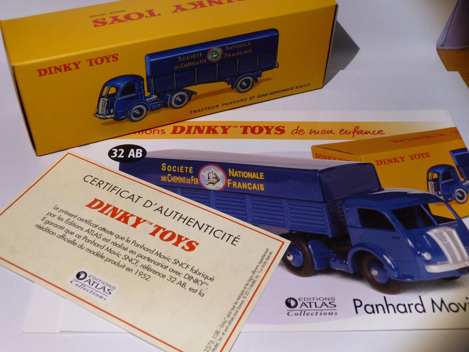 Camion Panhard + semi-remorque SNCF - ref 32 AB   32AB de dinky toys atlas
