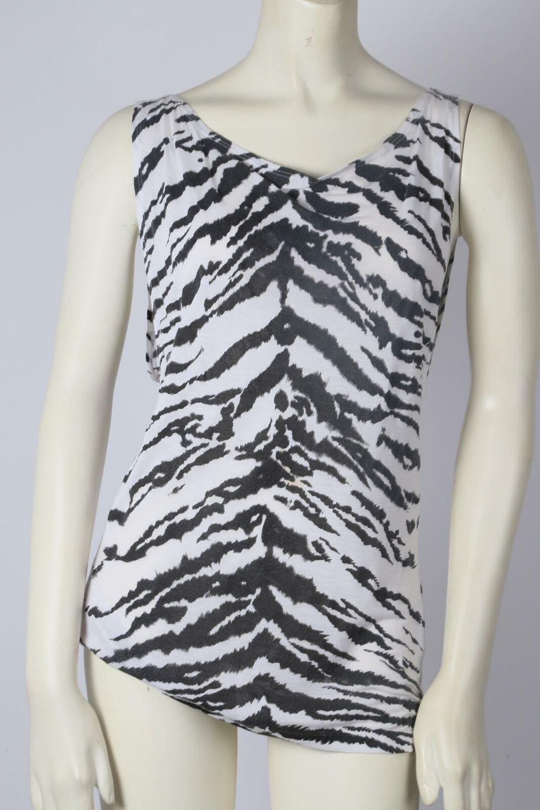 SAINT LAURENT Zebra Print Sleeveless Top Size S - image 2