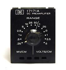 Hewlett Packard HP 17171A DC Preamplifier Einschub / Plug-In f. XT/XY Schreiber