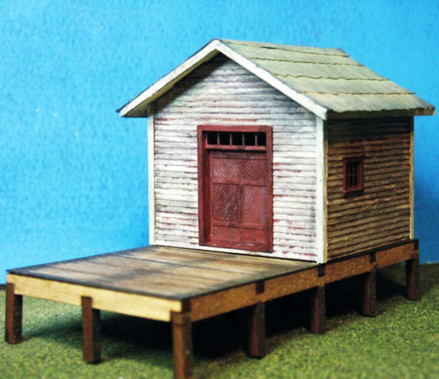 BILLCO FREIGHT HO HOn3 Model Railroad Structure Unpainted Wood Laser Kit RSL2040