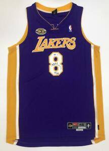 Details about KOBE BRYANT Autographed Lakers 3x Champ Patch Authentic Jersey UDA LE 55/108