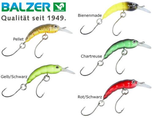 Balzer Trout Attack Forellenwobbler Hectic Maggot 3cm 1,3g sinkend Kunstköder