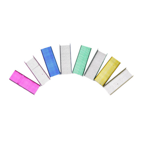 1Pack 12mm Creative Colorful Stainless Steel Staples Office Binding Supplies *AW