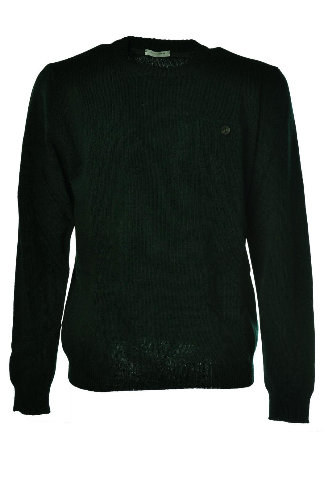 Paolo Pecora - Knitwear-Sweaters - Man - Grün - 1023418C185543