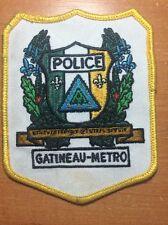 PATCH POLICE CANADA - GATINEAU-METRO ( QUEBEC ) - ORIGINAL!
