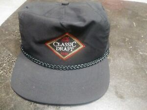 VTG Old Style Classic Draft Beer Snapback Hat Corded embroidered ... c1da3212a35e