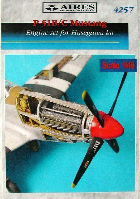Aires 1 48  P-51B C Mustang Engine Set for Tamiya kit