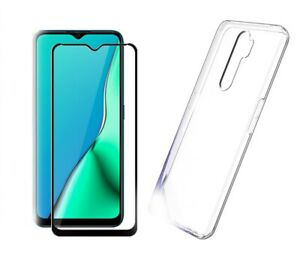 Coque-pour-Oppo-A9-2020-Protection-ecran-Complet-Verre-Clear-Gel-Cover