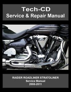 Details about Yamaha Roadliner Stratoliner Raider Service Repair Manual on