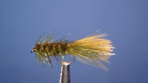 12QTY FLASH BUGGER OLIVE FLY fishing flies size06