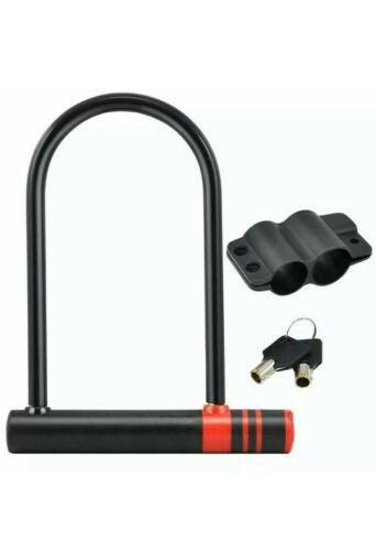 U-Type Bicycle Bike Heavy Duty Metal Blackspur Security Lock with Keys cycle