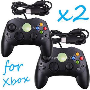 2 LOT NEW Black Controller Control Pad for Original Microsoft XBOX X System 635909318903
