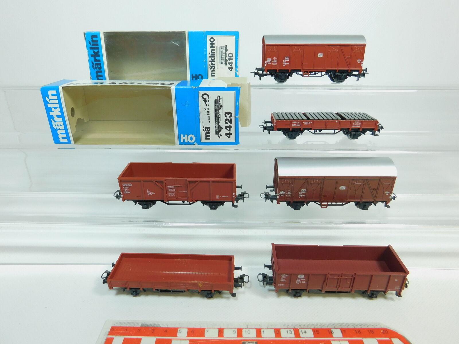 BP617-1 x Märklin H0   Ac Vagón de Mercancía Db   4423+4410 Etc. ,Buen + 2x