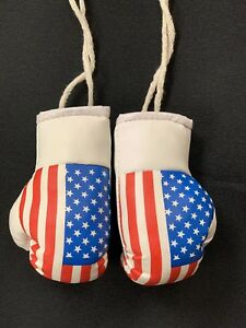 Mini Boxing Gloves for hanging Car Mirror  Flag USA