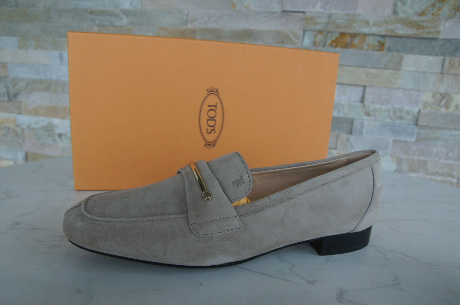 Tods Tod S Gr 37 Slipper shoes shoes Beige Lingotto Lingotto Lingotto New Previously 84ceb9