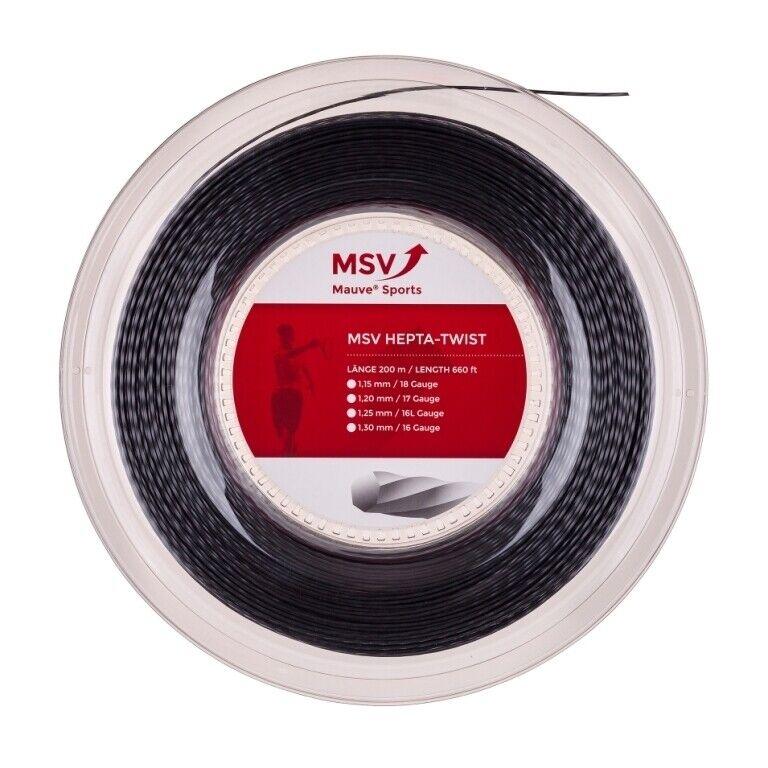 m MSV HEPTA TWIST ( 200m Rolle ) anthrazit ø 1.25 mm Saitenstärke