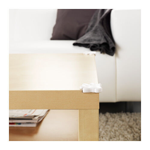 NEW IKEA 8 PACK PATRULL WHITE CHILD-SAFE TABLE CORNER BUMPER