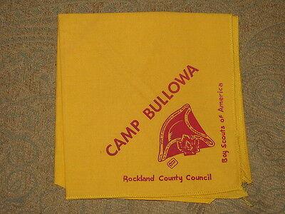 Camp Bullowa NY Neckerchief  BSA  Gold