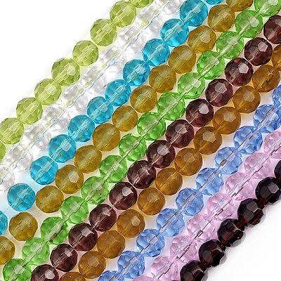 Kristall Glas 10MM Glasperlen Perlen Glasschliffperlen Rund  Facette Kugel Beads