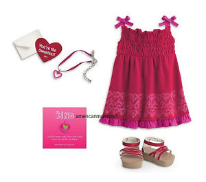 American-Girl-MYAG-Pretty-Party-Outfit-for-Dolls-Spring-Summer-Heart-Dress-Red