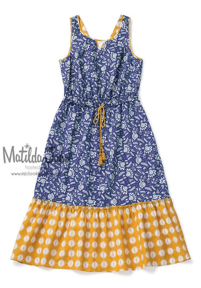 damen MATILDA JANE Camp MJC Blau Ridge Dress Größe M Medium NWT