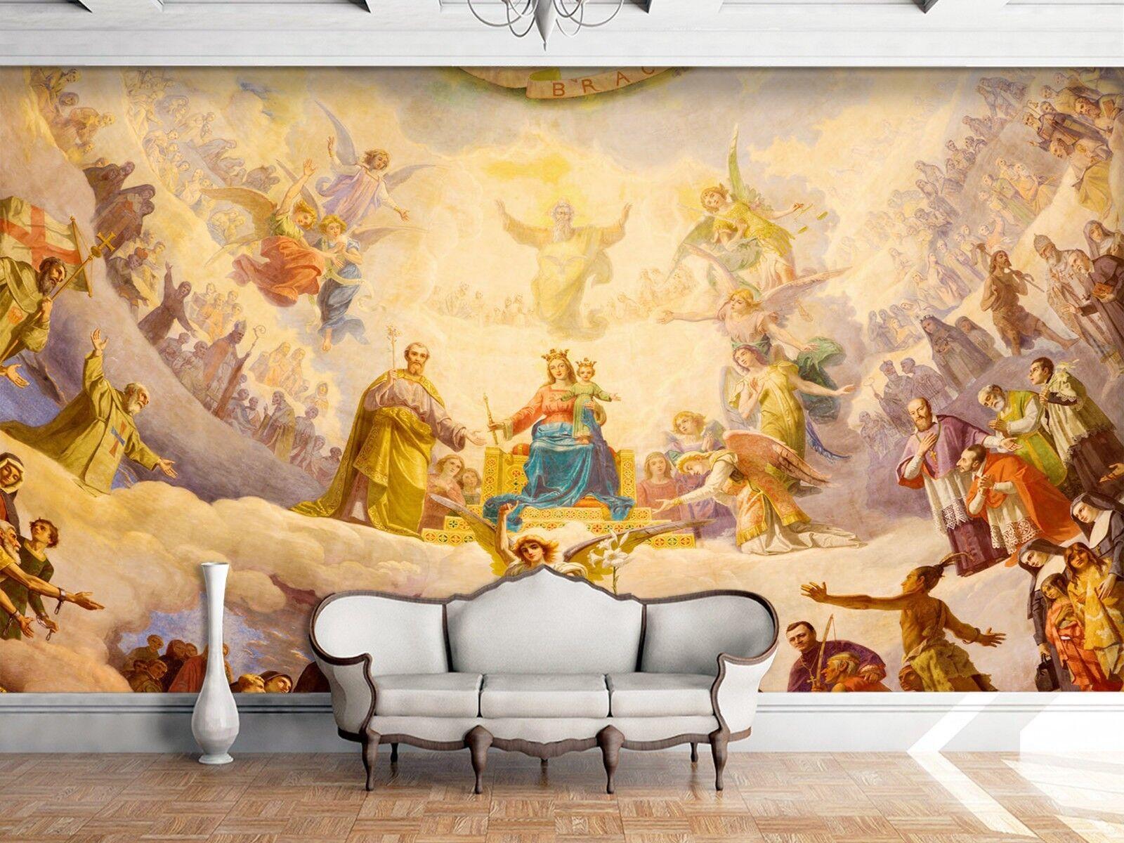 3D Engel Königreich 78 Tapete Wandgemälde Tapete Tapeten Familie Kinde DE