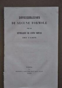 Estimo-Catasto-Determinazione-Formule-Confini-Campi-Agrimensura-Modena-1869