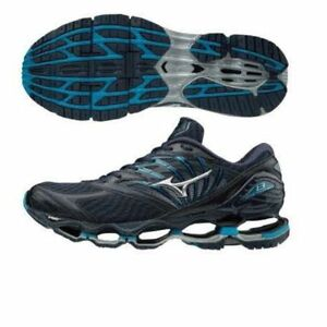 c3d5e8760f6ec Mizuno Wave Prophecy 8 Black Dark Blue Navy Men Running Shoes D ...