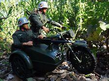 Vintage Action Man Custom German motorcycle + sidecar/Motor bike Storm trooper