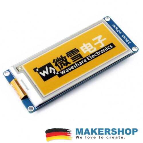 Waveshare 2.9inch E-Ink SPI Display 296x128 Modul 3-Farben Arduino Raspberry Pi