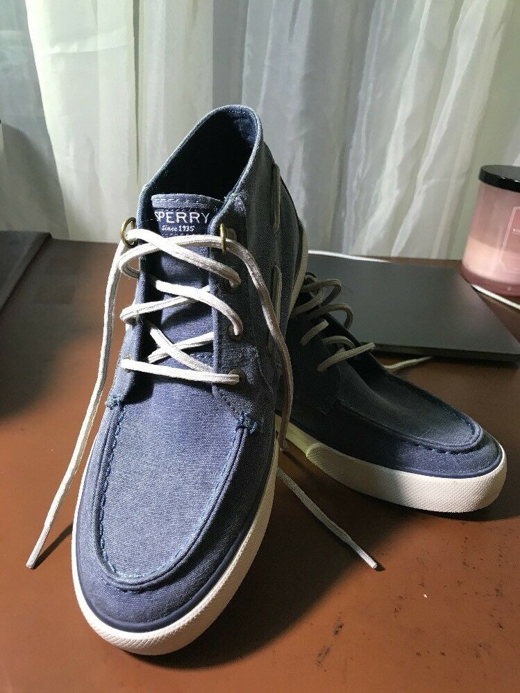 Sperry Femme Pier Crest High Top Sneakers Boat Chaussures Bleu