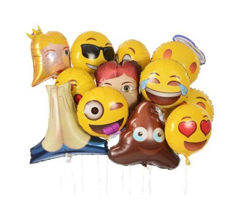 Jumbo Foil Emoji Helium Balloons 12-Pack Emoji Universe