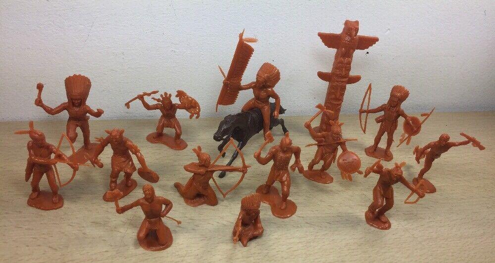 Marx Cocheamelo indios 54mm figura todos 9 poses básicas y 4 tubo adicional Pose