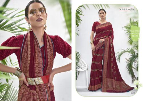 Saree Sari Designer Indian Bollywood Wear Wedding Silk Pakistani Party Blouse TR