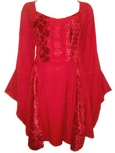BNWT-Eaonplus-Ladies-Embroidered-Renaissance-Gothic-Corset-Tunic-Top-Size-28