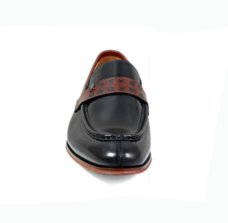 Stacy Adams Men's Sussex Moc-Toe  Penny Loafer Loafer Loafer nero Cognac Leather 25179-969 204d9b