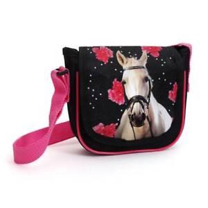 20f18052e1a36 Pink Tasche Handtasche Pferdemotiv Mädchen Handtäschchen Kleine vN8n0Omw
