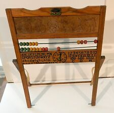Vintage Educational Playthings Wooden Easel Abacus with Circus Animals