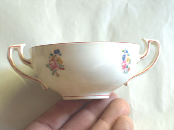 Racional 1914 Antigüedad A4807 Mintons 9.8cm Mano Pintura Recambio Caldo Sugar Bowl Copa Retrasando La Senilidad