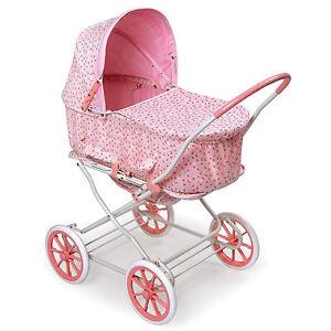 Pink Rosebud 3-in-1 Doll Pram/ Carrier/ Stroller