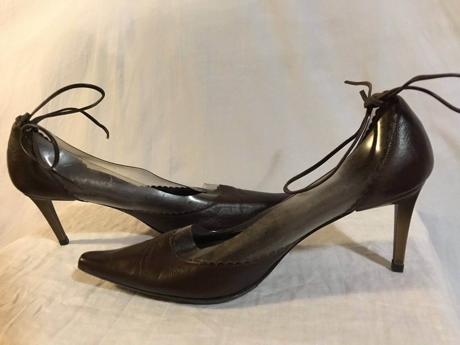 Vintage Shoes Versani Women's Brown Heels Shoes Vintage size 8- 8.5 made in Italy 447ec9