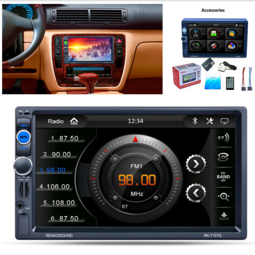 "7/""Double 2 Din Car GPS Navigation MP5 MP3 Player RDS Bluetooth+North America Map"