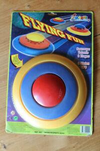 Marki Flying Fun Frisbee, 1980er Jahre, UFO Look, unbenutzt, Originalverpackung