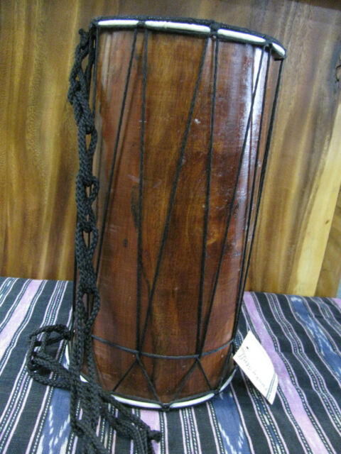 QUALITY DOUBLE SIDED MAHOGANY DRUM 25 CM LENGTH  WHOLESALE OUTLET
