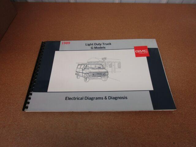 1989 Gmc Vandura Rally G1500 G2500 G3500 Van Wiring Diagrams Service Shop Manual