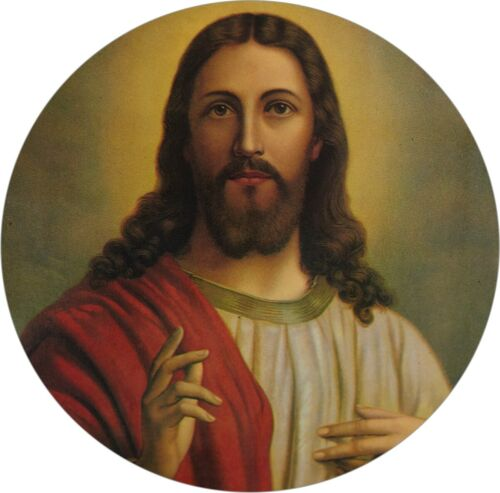 2 x JESUS CHRIST Church Holy Church Prayer Printed Decal Stickers