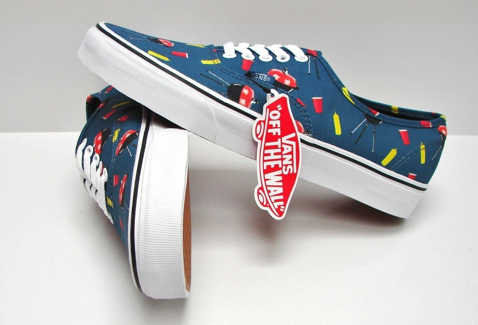 Vans Authentic Pool Vibes bluee Ashes True White VN-0004MLJPG Women's Size  6.5