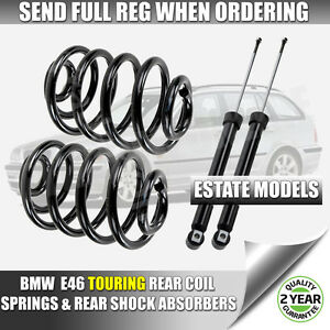 BMW-3-SERIES-E46-TOURING-ESTATE-98-07-REAR-SHOCK-ABSORBERS-amp-COIL-SPRINGS-NEW