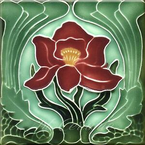 Art Nouveau Reproduction Decorative Ceramic tile 347