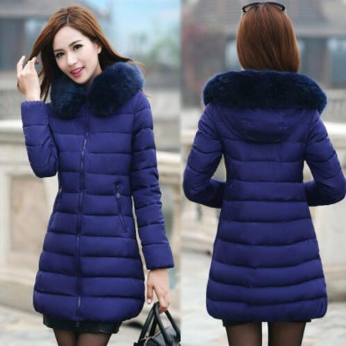 Cappotto lungo Donna imbottito Slim Fit 7xl caldo Size Inverno Plus Xl YpqaHx